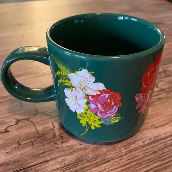 Starbucks ban.do Green flower Mug holiday 2018